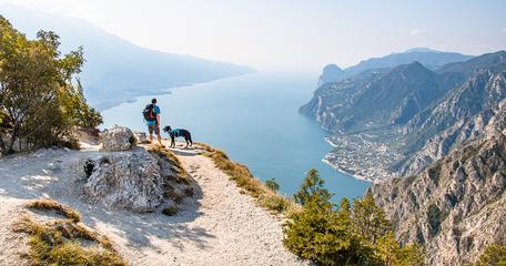 Dei Larici Gardaseeberge Gardasee Wandern am Gardasee Bergurlaub mit Hund Wandern mit Hund am Gardasee