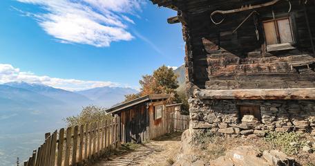 Meraner Höhenweg Wandern in Südtirol Partschins Wandern mit Hund Bergurlaub mit Hund