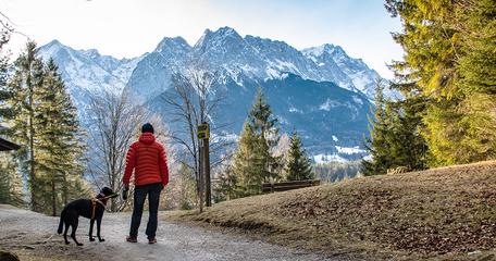 Kramerplateauweg Garmisch-Partenkirchen Bayern Zugspitze