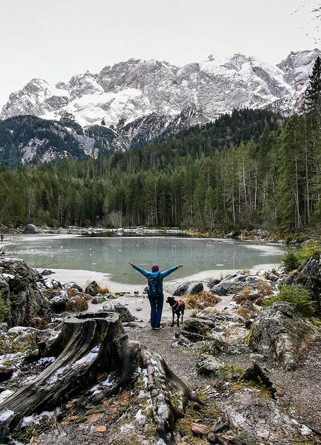 Frillensee Eibsee Zugspitze Wandern mit Hund Bayern