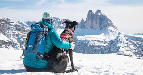 Strudelkopf Prags Plätzwiese Wandern mit Hund in Südtirol Dolomiten