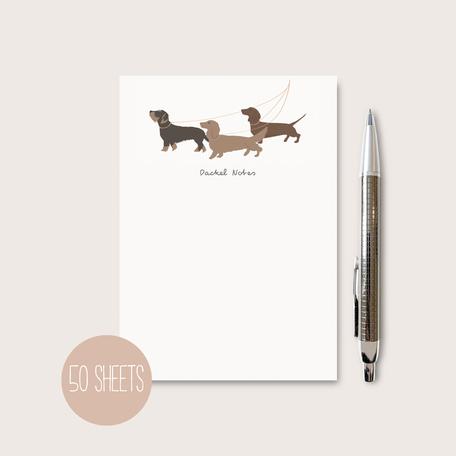 Einkaufslist Shoppinglist Notizblock Notepad Dackel Hunde