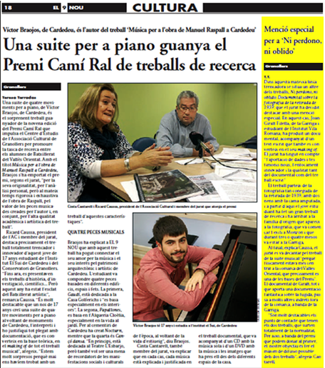 noticia Joan Giralt al 9 nou