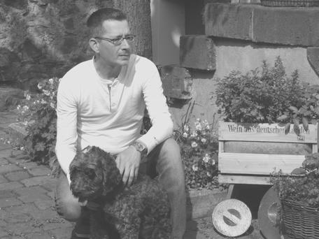 Jörg Wanders mit Hund Bob