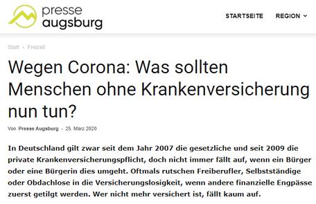Die Finanzschneiderei auf presse-augsburg.de