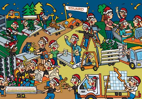 Dirk Van Bun Communicatie & Vormgeving - Illustraties - originele tekening - Bedrijven - ondernemingen - particulieren - op maat van uw activiteiten en wensen - Lommel - wenskaarten - Eduard trailers