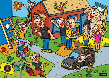 Dirk Van Bun Communicatie & Vormgeving - Illustraties - originele tekening - Bedrijven - ondernemingen - op maat van uw activiteiten - canvas - Lommel - Schilderwerken Davy Van Bever