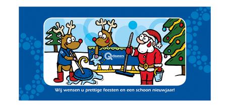 Dirk Van Bun Communicatie & Vormgeving - Illustraties - originele tekening - Bedrijven - ondernemingen - particulieren - op maat van uw activiteiten en wensen - Lommel - wenskaarten - Q Cleaners