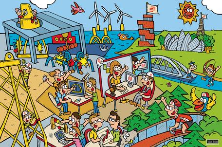 Dirk Van Bun Communicatie & Vormgeving - Illustraties - originele tekening - Bedrijven - ondernemingen - op maat van uw activiteiten - canvas - Lommel - Smulders Balen