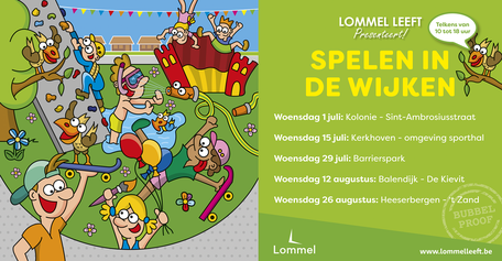 Dirk Van Bun Communicatie & Vormgeving - Grafische vormgeving - reclame - publiciteit - Lommel - Lommel Leeft - Spelen in de wijken