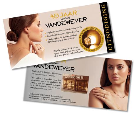 Dirk Van Bun Communicatie & Vormgeving - Grafische vormgeving - Grafisch ontwerp - reclame - publiciteit - Grafisch ontwerp - Lommel - Leaflets - Juweliers Vandeweyer
