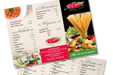 Dirk Van Bun Communicatie & Vormgeving - Grafisch ontwerp - reclame - publiciteit - Lommel - Menukaarten - Il Cuoco