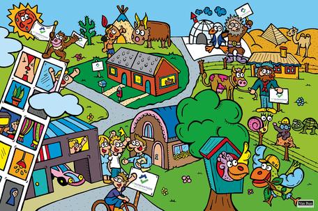 Dirk Van Bun Communicatie & Vormgeving - Illustraties - originele tekening - Bedrijven - ondernemingen - op maat van uw activiteiten - canvas - Lommel - Het Huiskantoor