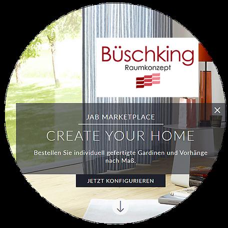 Vorhang Konfiguratior JAB Büschking
