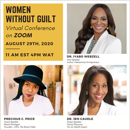 Women Without Guilt Conference August 29th, 2020