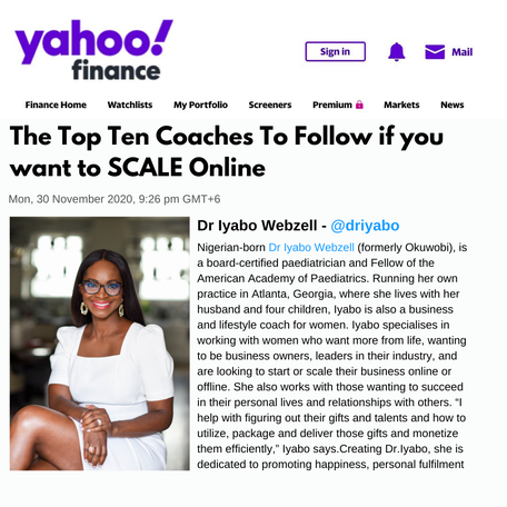 Dr. Iyabo featured in the Cosmopolitan