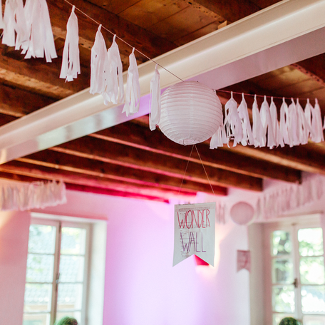 Tasselgirlande Lampion Hochzeitsdekoration