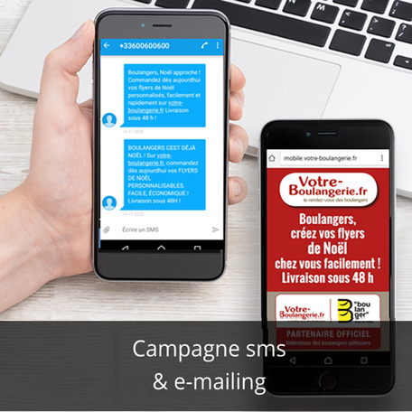 campagne SMS et e-mailing