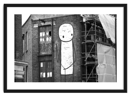 Street art print 'Working in the Streets Of London' By PASiNGA exclusive ArtHaus collection