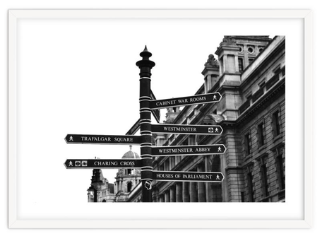 Modern art print 'London street Sign' By PASiNGA exclusive ArtHaus collection