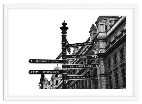Modern art print 'London street Sign' By PASiNGA exclusive ArtHaus collection