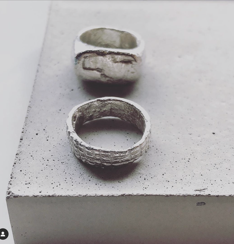 Product Photography Styling Inspiration With PASiNGA Concrete Sculptures Image by Angela Georgiou Jewellery