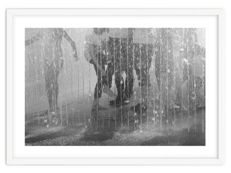 Black and white street photography print 'Sunner in The Cuty' By PASiNGA exclusive ArtHaus collection