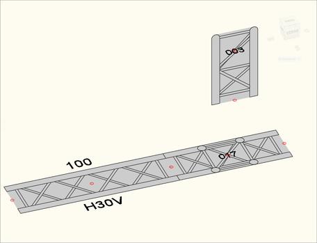 Bild 5b - Reine 2D-Ansicht der Objeke im 3D-Raum