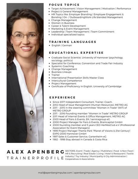 Trainerprofile APENBERG
