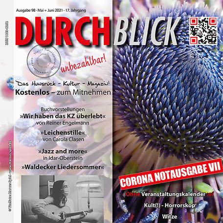 DURCHBLICK - Ausgabe 98 - Mai + Juni 2021