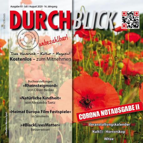 DURCHBLICK - Ausgabe 93 - Juli + August 2020