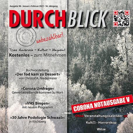 DURCHBLICK - Ausgabe 96 - Januar + Februar 2021