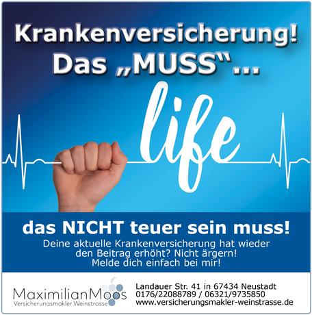 Post Maximilian Moos Versicherungsmakler Weinstraße Krankenversicherung 112020