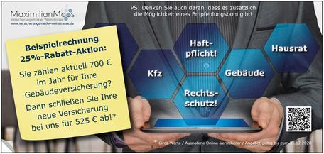Bild Seite 1 Flyer Privatversicherungen Maximilian Moos, Versicherungsmakler Neustadt an der Weinstraße