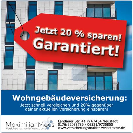 Post Maximilian Moos Versicherungsmakler Weinstraße Wohngebaudeversicherung 112020