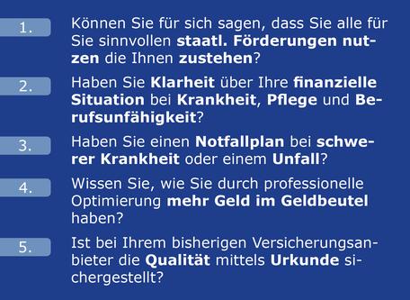 Bild Fragen zu Anforderungen Maximilian Moos, Versicherungsmakler Neustadt an der Weinstraße