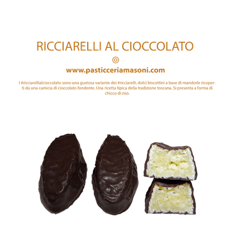 Pasticceria Masoni Vicopisano prodotti tradizione Masoni, ricciarelli al cioccolato #ricciarellialcioccolato, shop online
