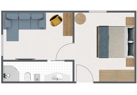 Junior Suite moderna con vano separato