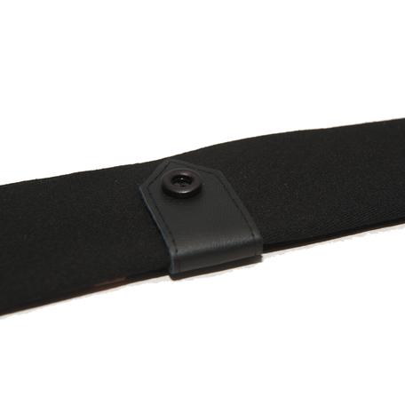 Smalle stropdas Senor Guapo rockstar zwart leer knoop modern
