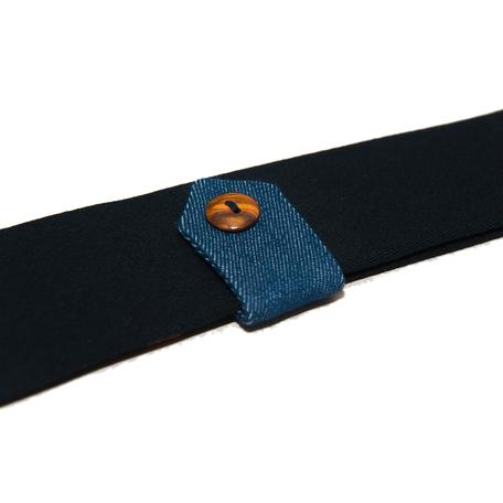 Smalle stropas Senor Guapo marine blauw denim modern