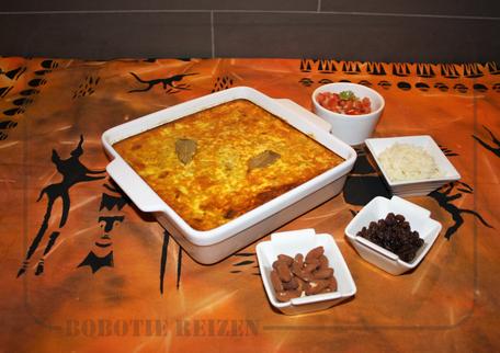 Rondreis Zuid-Afrika Safari Bobotie Reizen Bobotie recept ovenschotel