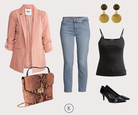Business Casual mit Jerseyblazer Girlfriend-Blazer apricot