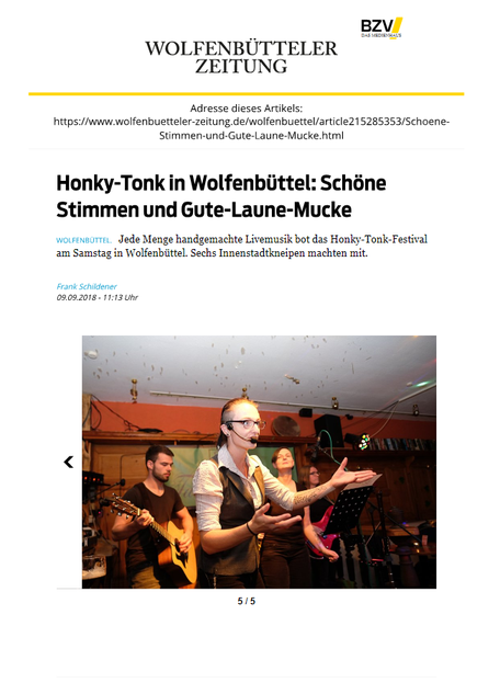 September 2018 Honky-Tonk, Wolfenbüttel
