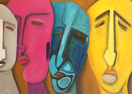 WE ARE DIFFERENT 50 x 70 Acryl SOLD / VERKAUFT
