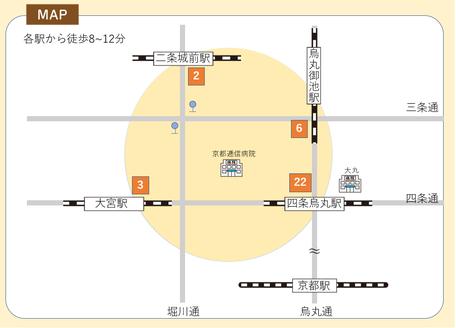 ティーアテンダント協会主宰紅茶教室おちゃたくの京都校の地図