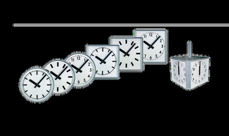 Aussenuhren + explosionsgeschützte Uhren
