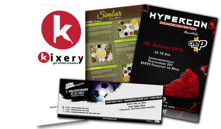 Plakate, Flyer, Print, Printdesign