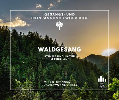 WALDGESAG - Workshop für Stimme, Medidation & Entspannung