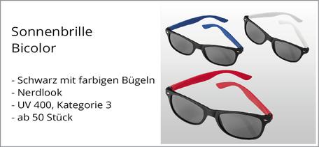 Sonnenbrille Sonderaktion günstig mit Logo bedruckt