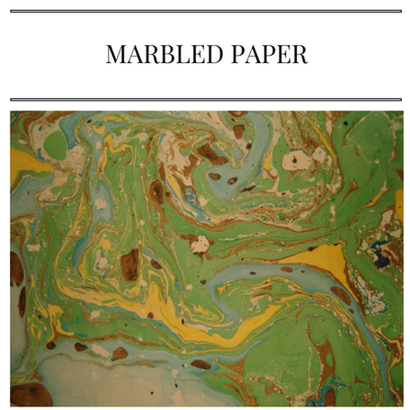 fashion marbled paper